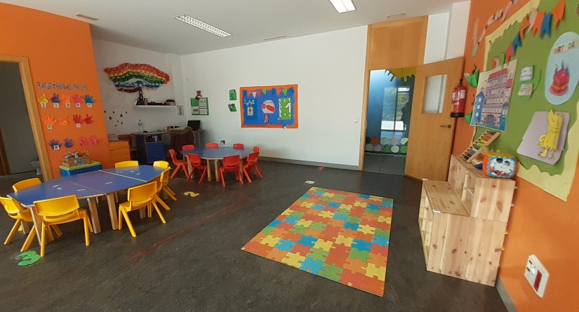 Interior de aula de la Escuela Infantil